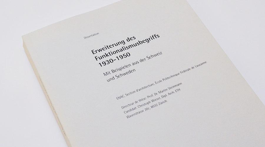 Umschlaggestaltung Architektur-Dissertation ENAC