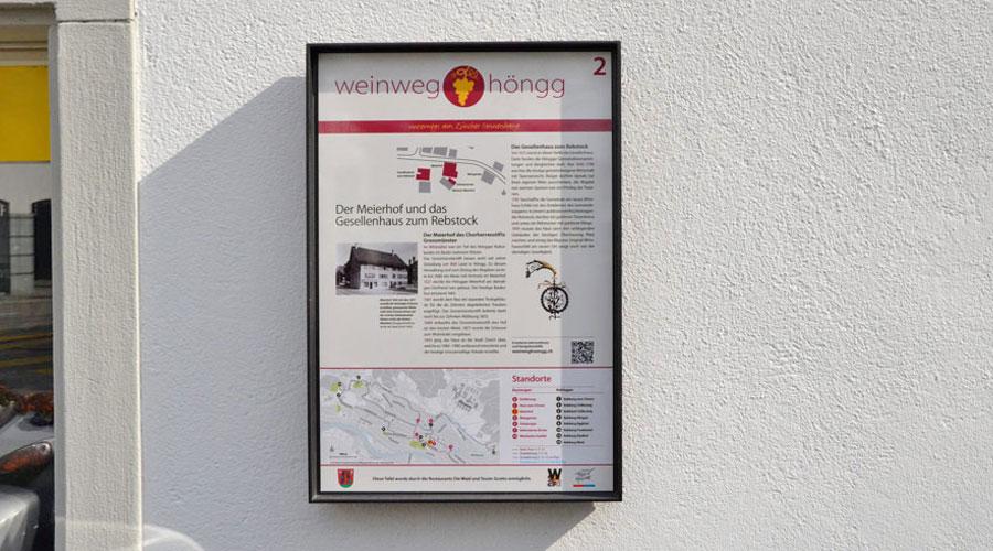 Weinweg Höngg Tafel 2