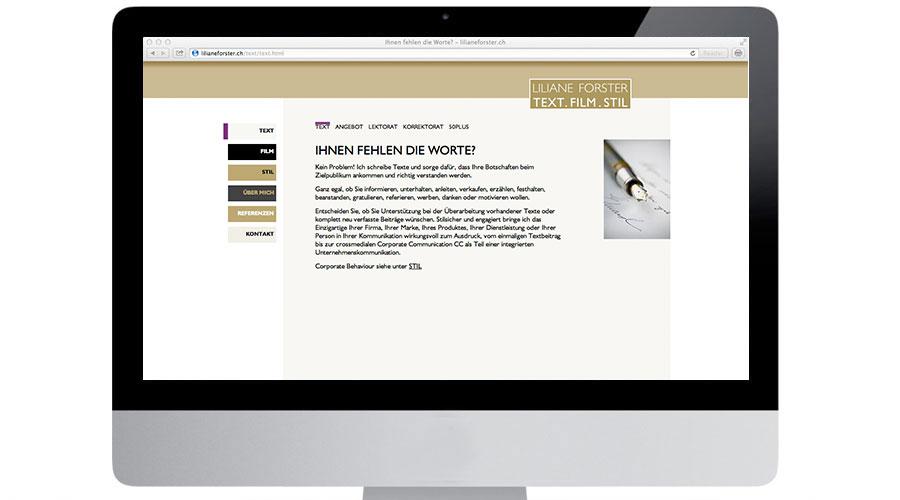 lilianeforster.ch Screenshot