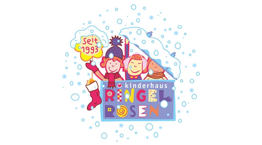 Kinderhaus Ringelrosen Wortbildmarke Winter Special