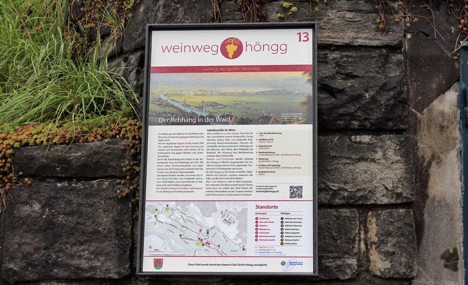 Weinweg Höngg Tafel 13