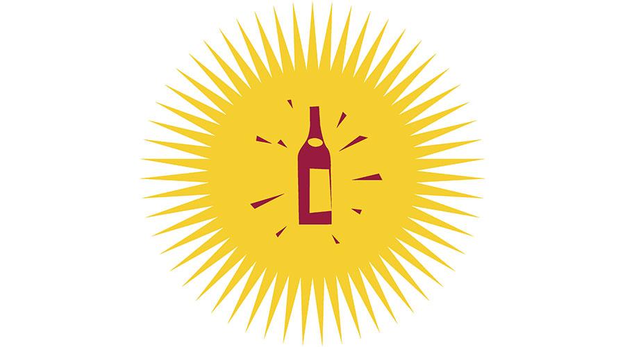 Weinweg Höngg Icon mit Flasche